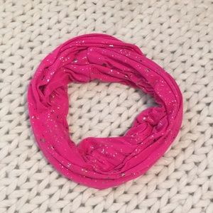 Accessories - Hot pink and gold infinity fashion scarf
